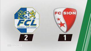Lucerne - Sion (2-1): tous les buts du week-end [RTS]