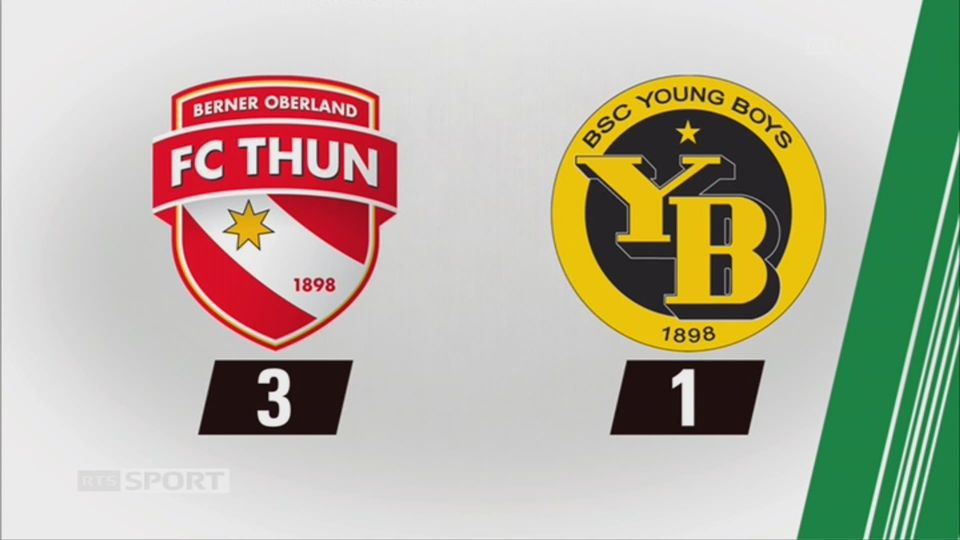 Thoune - Young Boys (3-1): tous les buts du week-end [RTS]