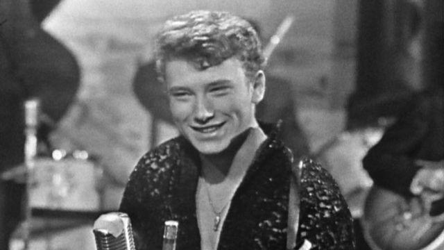 Johnny Hallyday au Grillon à Genève en 1961. [RTS]