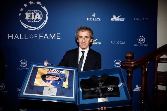Alain Prost et d'autres anciens champions du monde ont été honorés lundi. [Thomas Padilla - AFP]