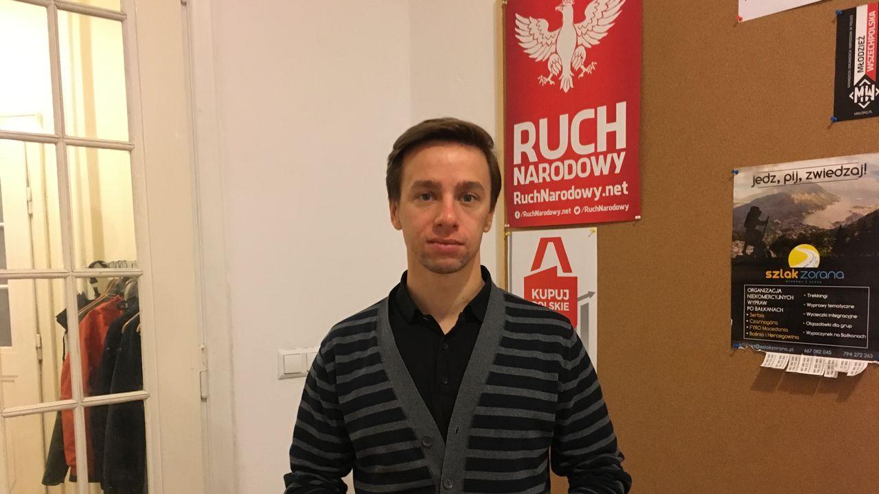 Krzysztof Bosak, vice-président du Mouvement national polonais. [Alexandre Habay - RTS]