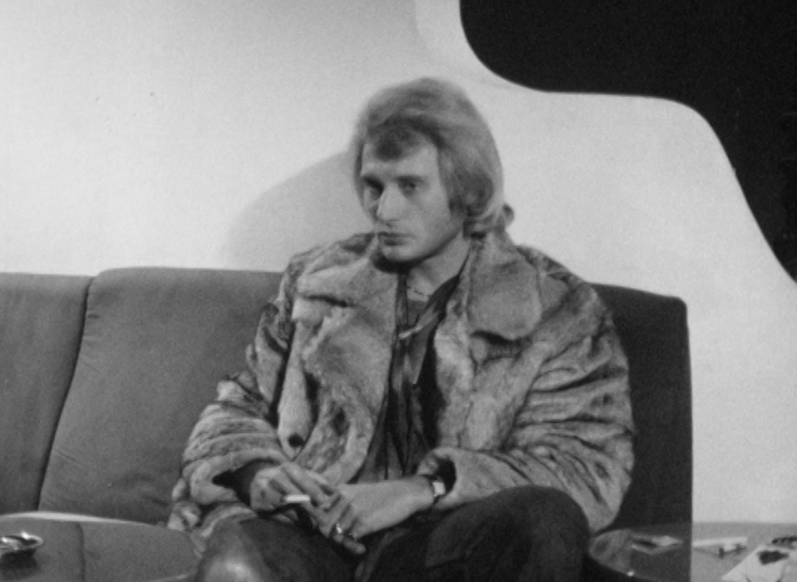 Johnny Hallyday en interview en 1969.