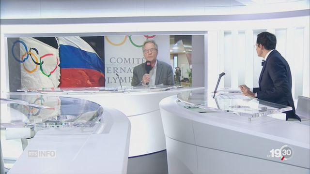 Russie - décision dopage: Pierre-Alain Dupuis détaille les enjeux de cette décision [RTS]