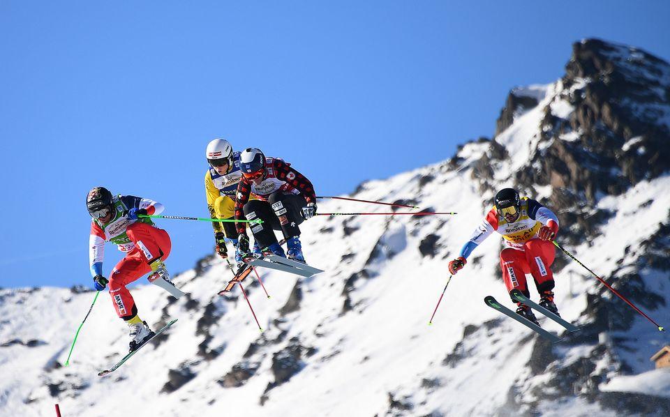 Jonas Lenherr (à gauche) a fait bonne figure à Val Thorens. [Franck Fife - AFP]