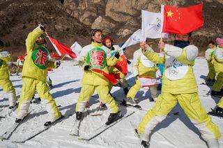 La Chine représente un marché juteux pour les équipementiers sportifs à l'horizon des JO d'hiver 2022 de Pékin. [Ng Han Guan - Keystone]