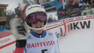 Combiné alpin, St-Moritz (SUI), 1e manche : Michelle Gisin (SUI) [RTS]