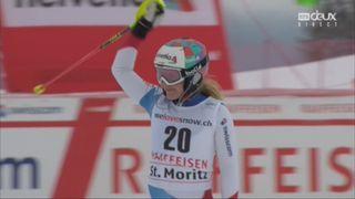 Combiné alpin, St-Moritz (SUI), 1e manche : Rahel Kopp (SUI) [RTS]