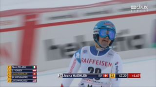 Combiné alpin, St-Moritz (SUI), 1e manche : Joana Haehlen (SUI) [RTS]