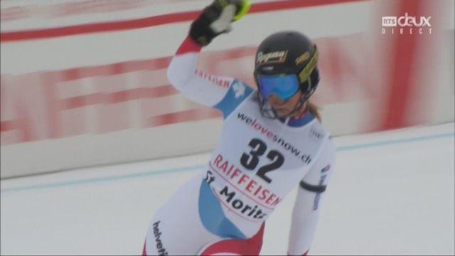 Combiné alpin, St-Moritz (SUI), 1e manche : Priska Nufer (SUI) [RTS]