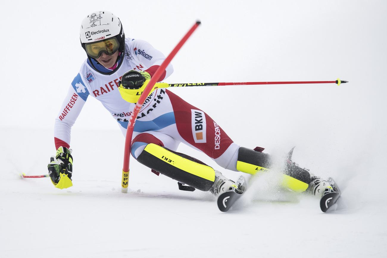 Shiffrin domine le slalom de Saint-Moritz