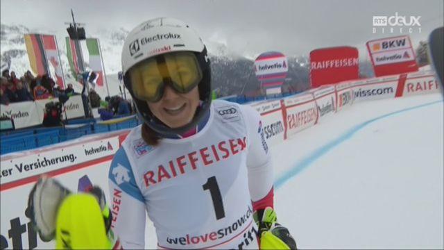 Combiné alpin, St-Moritz (SUI), 1e manche: le passage de Wendy Holdener (SUI) [RTS]