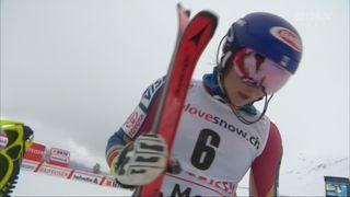 Combiné alpin, St-Moritz (SUI), 1e manche : 1ère place pour Mikaela Shiffrin (USA) [RTS]