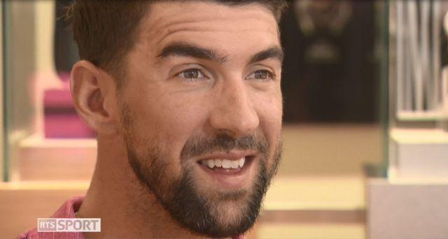 Michael Phelps était à Crans-Montana en septembre dernier. [RTS]