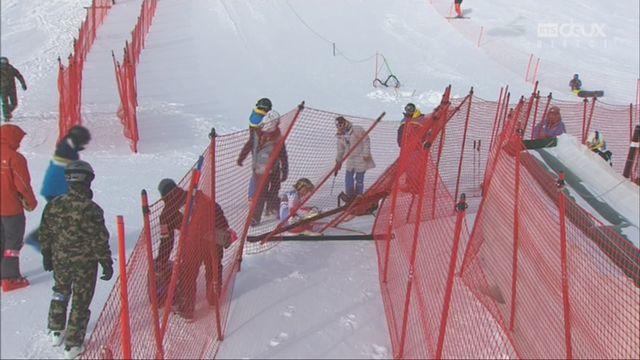 St. Moritz (SUI), Super G dames: la chute de Lara Gut (SUI) [RTS]
