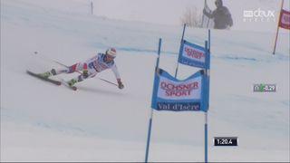 Val d'Isère (FRA), Géant messieurs 2e manche: Elia Zurbriggen (SUI) prend la 5e place provisoire [RTS]