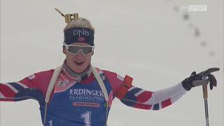 Biathlon, poursuite messieurs : Victoire de Johannes Boe (NOR) [RTS]