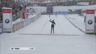 Biathlon, poursuite messieurs : Victoire de Kuzmina (SVK) [RTS]