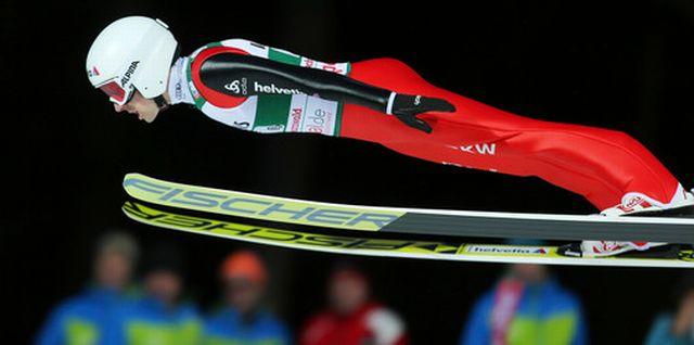Simon Ammann a largement participé au bon résultat des Suisses. [Thomas Bachun - EQ]