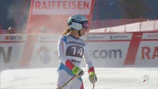 Ski: Jasmine Flury et Michelle Gisin remportent les première et deuxième places du super-G [RTS]