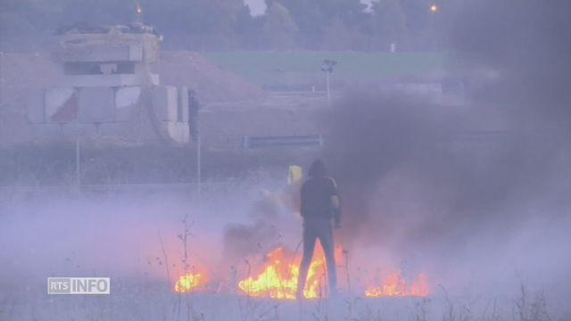 Heurts entre des Palestiniens et la police israélienne à Gaza [RTS]