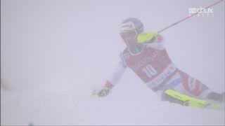 lalom, Val d'Isère (FRA), 1e manche: le Suisse Daniel Yule part à la faute [RTS]