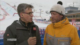 Super-G, St-Moritz (SUI): le Super-G et le combiné alpin annulés à cause de la météo: les explications de Miguel Aquiso [RTS]
