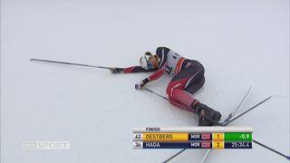 10 km dames, style libre, Davos (SUI): la Norvégienne Oestberg s'impose devant sa compatriote Haga et la Finlandaise Parmakoski. [RTS]