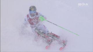 Slalom, Val d'Isère (FRA), 2e manche: Marcel Hirscher (AUT) s'impose devant Kristoffersen (NOR) et Myrher (SWE) [RTS]