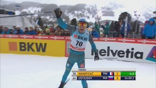 Davos, 15km style libre messieurs: Maurice Manificat (FRA) [RTS]