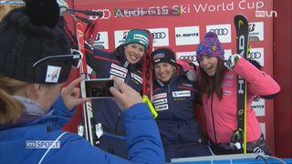 Ski alpin - Mondiaux de St-Moritz: triomphe pour Jasmine Flury et Michelle Gisin [RTS]