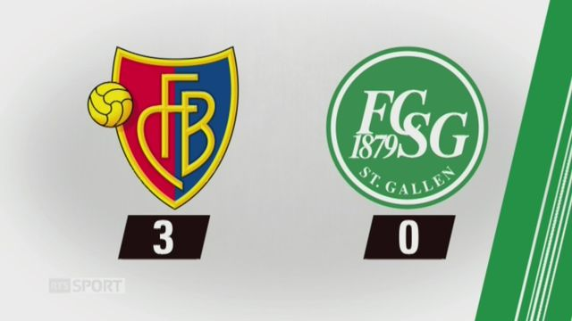 18e journée, Bâle - Saint-Gall (3-0): tous les buts de la rencontre [RTS]