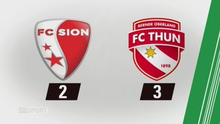18e journée, Sion - Thoune (2-3): tous les buts de la rencontre [RTS]