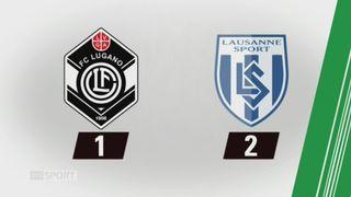 18e journée, Lugano - Lausanne-Sport (1-2): tous les buts de la rencontre [RTS]