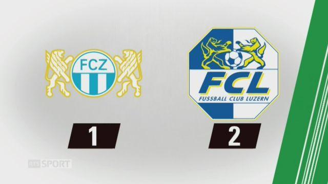 18e journée, Zurich - Lucerne (1-2): tous les buts de la rencontre [RTS]