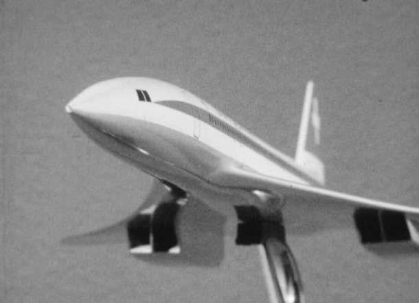 Projet d'un avion supersonique: le Concorde en 1965.