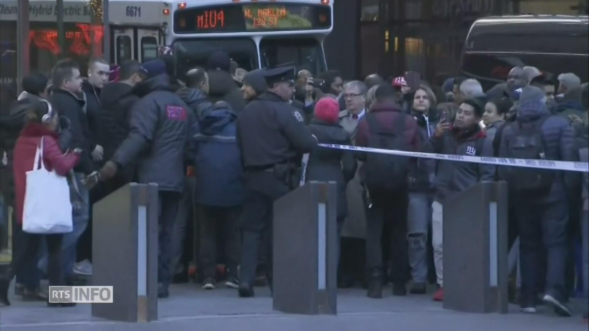 Explosion d'une bombe dans le métro — New York