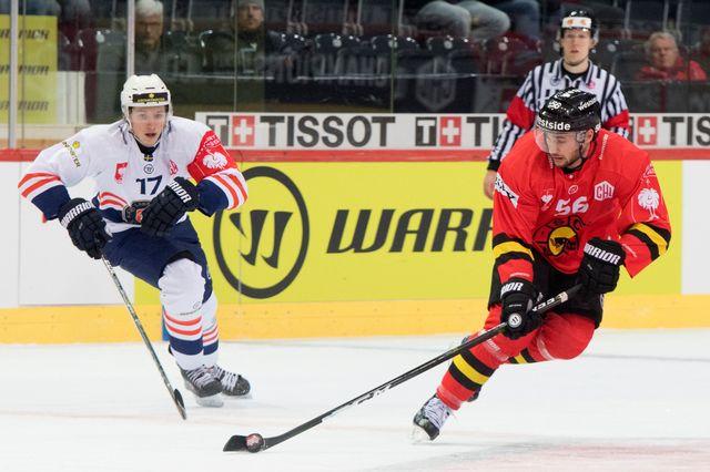 Vainqueurs à l'aller, Maxim Noreau et le SCB auront néanmpoins fort à faire en Suède. [Anthony Anex - Keystone]