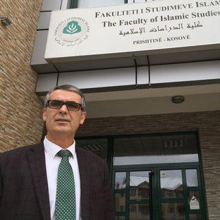 Xhabir Hamiti, professeur à la faculté des études islamiques de Pristina [Cédric Guigon - RTS]