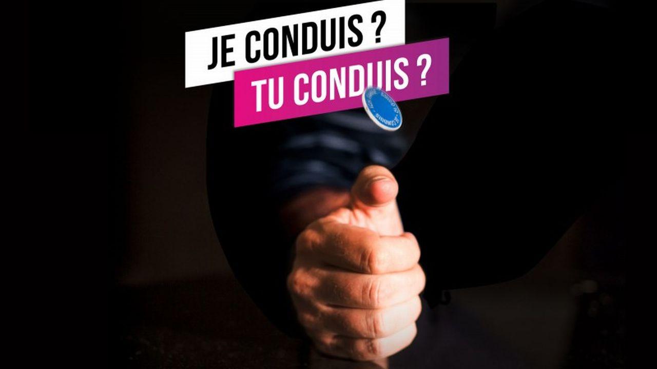 Une image tirée de la campagne des polices des cantons latins contre les effets de l'alcool au volant. [Twitter - @Policevaudoise]