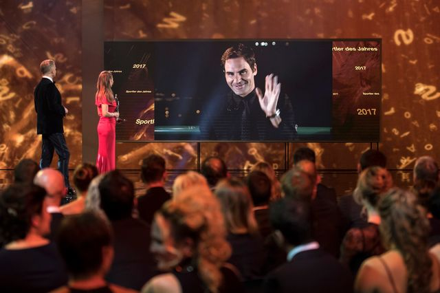 Roger Federer a été élu sportif suisse de l'année pour la 7e fois de sa carrière. [Ennio Leanza  - Keystone]