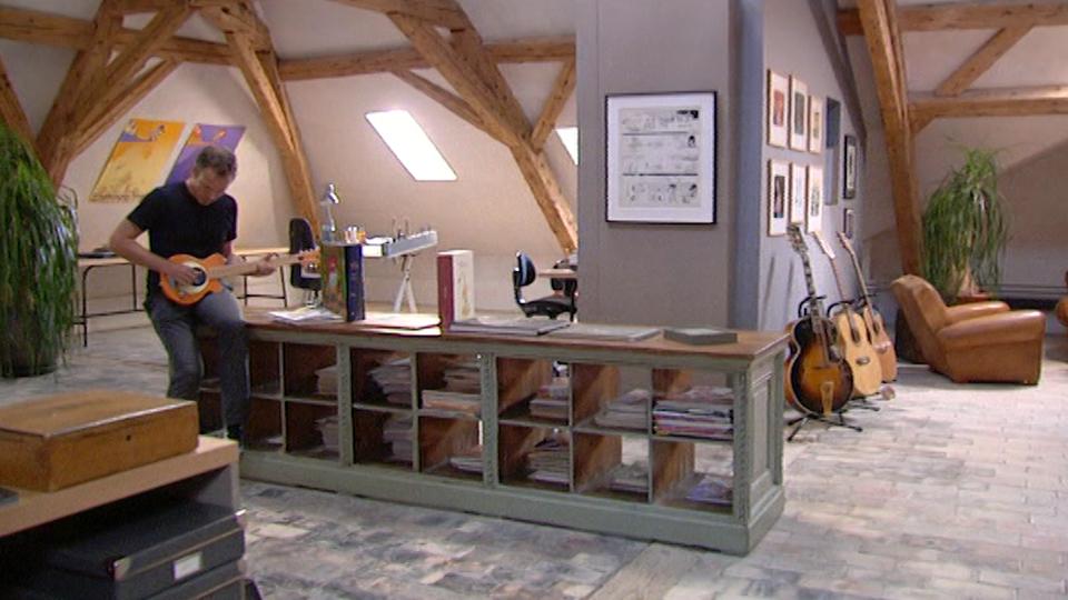Zep dans son atelier en 2010. [RTS]