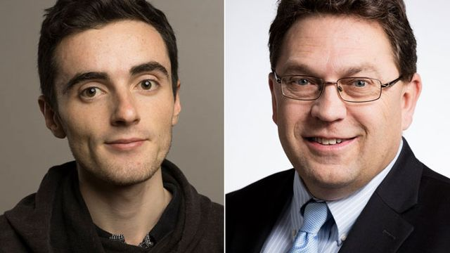 Nicolas Jutzet (gauche) et Laurent Wehrli. [Keystone]