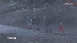 Skicross: épreuve arrêtée à cause de la neige [RTS]