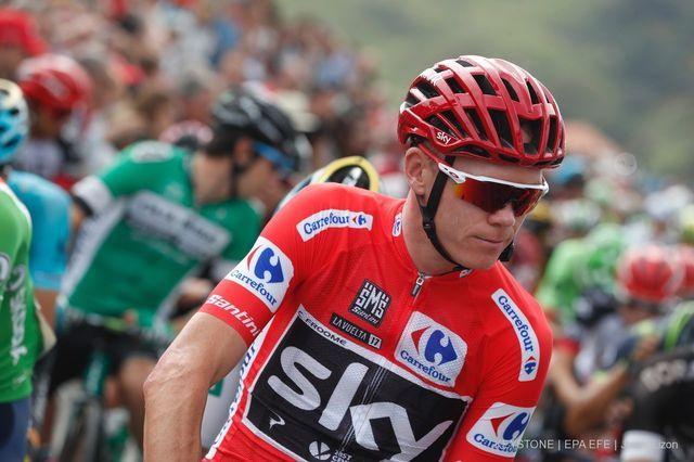 Chris Froome a été contrôlé positif lors du dernier Tour d'Espagne. [Javier Lizon - Keystone]