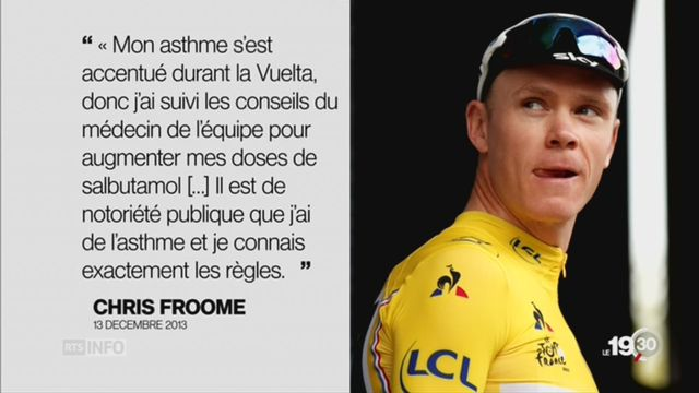 Cyclisme: Chris Froome soupçonné de dopage par l'UCI [RTS]