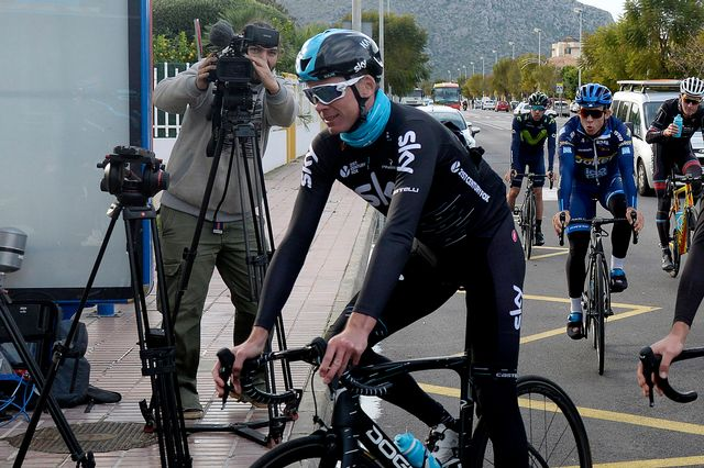 Froome s'entraîne actuellement à Majorque avec l'équipe Sky. [Joan Llado - Keystone]