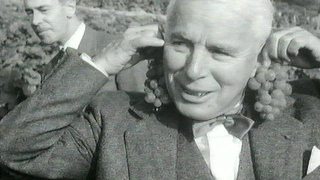 Charlie Chaplin dans les vignes du Lavaux. [RTS]