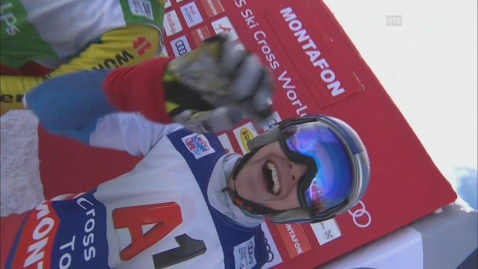 Skicross, finale dames, Montafon (AUT): la Suissesse Fanny Smith s'impose [RTS]