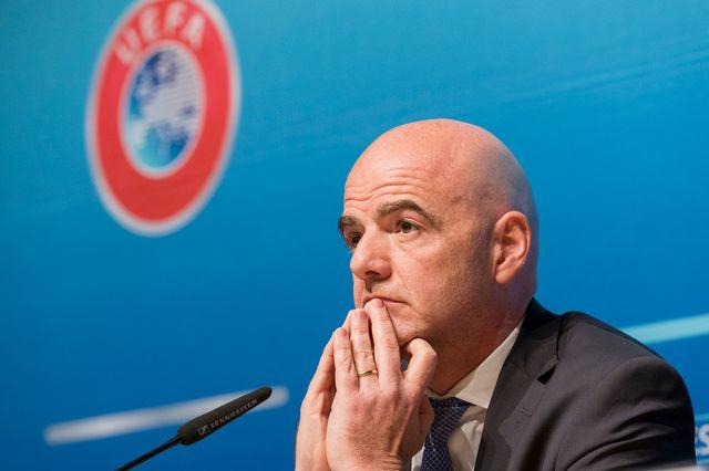 Infantino n'a pas expliqué pourquoi l'UEFA avait autorisé des sanctions plus faibles. [Cyril Zingaro - Keystone]