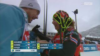 Poursuite dames: victoire de Laura Dahlmeier (GER), Selina Gasparin (SUI) au pied du podium [RTS]